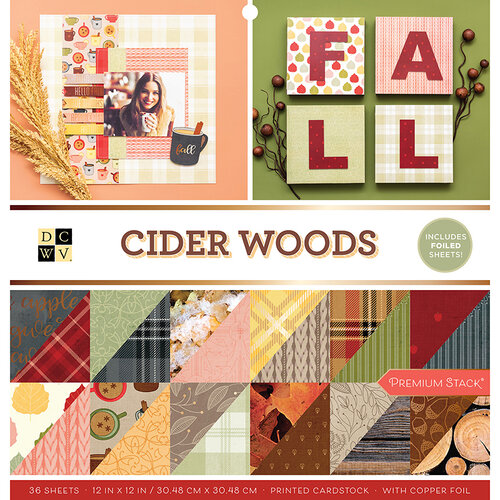 Die Cuts with a View - Cider Woods Collection - Foil Paper Stack - 12 x 12