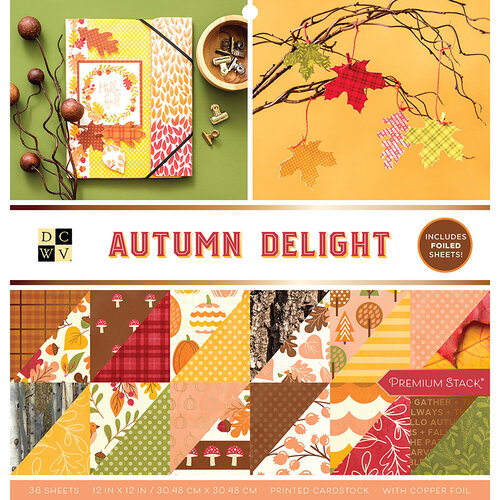 Die Cuts with a View - Autumn Delight Collection - Foil Paper Stack - 12 x 12