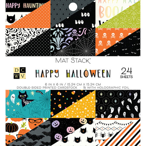 Die Cuts with a View - Happy Halloween Collection - Foil Paper Stack - 6 x 6