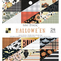 Die Cuts with a View - Hallowe'en Collection - Foil Paper Stack - 6 x 6