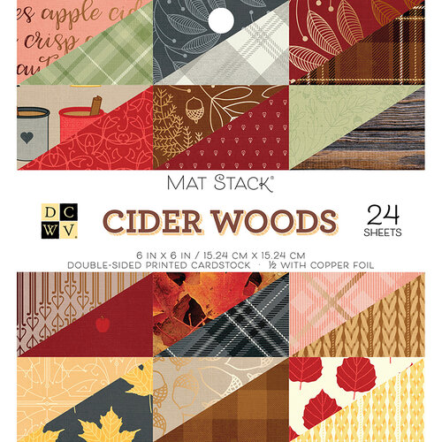 Die Cuts with a View - Cider Woods Collection - Foil Paper Stack - 6 x 6