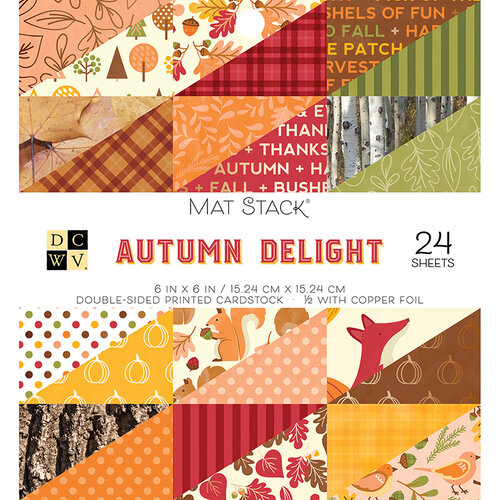 Die Cuts with a View - Autumn Delight Collection - Foil Paper Stack - 6 x 6
