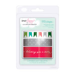 American Crafts - Dear Lizzy Christmas Collection - Decorative Mixtape - Evergreen, CLEARANCE