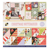 Die Cuts with a View - Christmas - Christmas Nutcracker Collection - Gold Glitter Paper Stack - 12 x 12