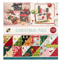 Die Cuts with a View - Christmas - Christmas Pals Collection - White Glitter Paper Stack - 12 x 12