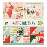Die Cuts with a View - Christmas - Merry Mod Christmas Collection - Iridescent Glitter Paper Stack - 12 x 12
