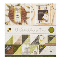 Die Cuts with a View - Christmas - O Christmas Tree Collection - Silver Foil Paper Stack - 12 x 12