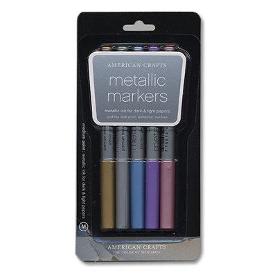 American Crafts - Metallic Markers - Medium Point - 5 Pack
