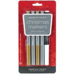 American Crafts - Metallic Marker Set - Medium Point - Christmas - 5 Pack