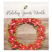 Die Cuts with a View - Christmas - Paper Projects - Holiday Greens Wreath