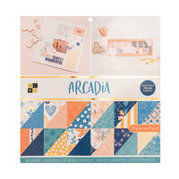 Die Cuts with a View - 12 x 12 Double Sided Paper Stack - Arcadia - Copper Foil Accents