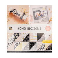 Die Cuts with a View - 12 x 12 Double Sided Paper Stack - Honey Blossoms - Gold Foil Accents