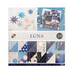 Die Cuts with a View - 12 x 12 Double Sided Paper Stack - Luna - Gold Foil Accents