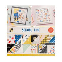 Die Cuts with a View - 12 x 12 Double Sided Paper Stack - School Time - Gold Foil Accents