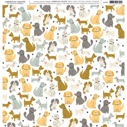 American Crafts - 12 x 12 Single Sided Paper - Dog Park