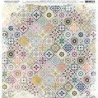 American Crafts - 12 x 12 Single Sided Paper - Mandala Patchwork