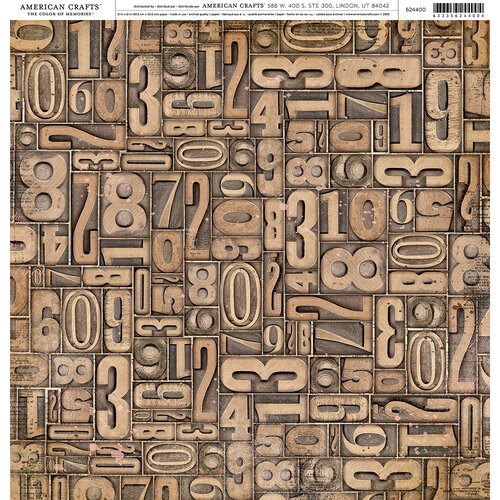 American Crafts - 12 x 12 Single Sided Paper - Numbers