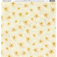 American Crafts - 12 x 12 Single Sided Paper - Daisies