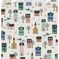 American Crafts - 12 x 12 Single Sided Paper - Homes