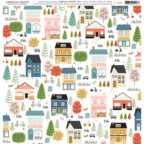 American Crafts - 12 x 12 Single Sided Paper - Suburbs