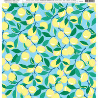 American Crafts - 12 x 12 Single Sided Paper - Lemon