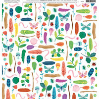 American Crafts - 12 x 12 Single Sided Paper - Bugs
