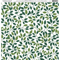 American Crafts - 12 x 12 Single Sided Paper - Leaves
