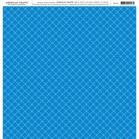 American Crafts - 12 x 12 Single Sided Paper - Blue Patterned