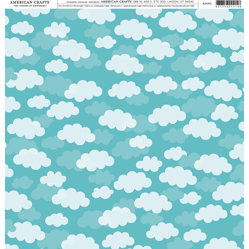 American Crafts - 12 x 12 Single Sided Paper - Clouds