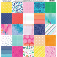 American Crafts - 12 x 12 Single Sided Paper - Patchwork