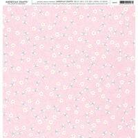 American Crafts - 12 x 12 Single Sided Paper - Floral Bees