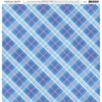 American Crafts - 12 x 12 Single Sided Paper - Plaid