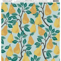 American Crafts - 12 x 12 Single Sided Paper - Pear