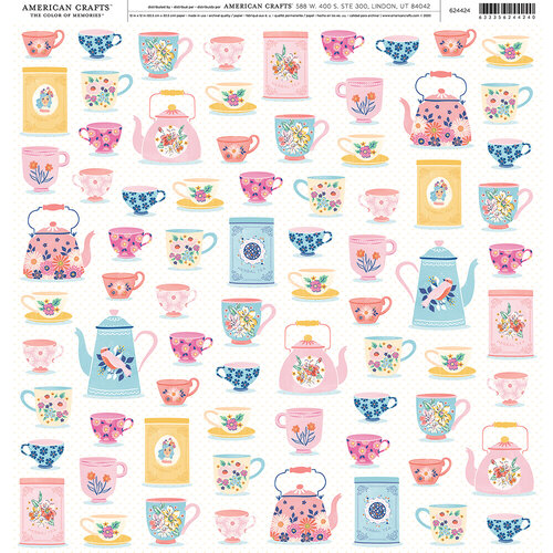 American Crafts - 12 x 12 Single Sided Paper - Teacup