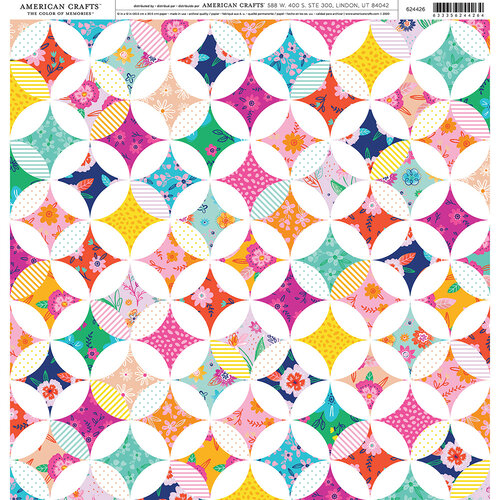 American Crafts - 12 x 12 Single Sided Paper - Patchwork Floral