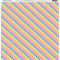 American Crafts - 12 x 12 Single Sided Paper - Rainbow Hearts