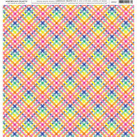 American Crafts - 12 x 12 Single Sided Paper - Rainbow Plaid