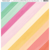 American Crafts - 12 x 12 Single Sided Paper - Rainbow Watercolor