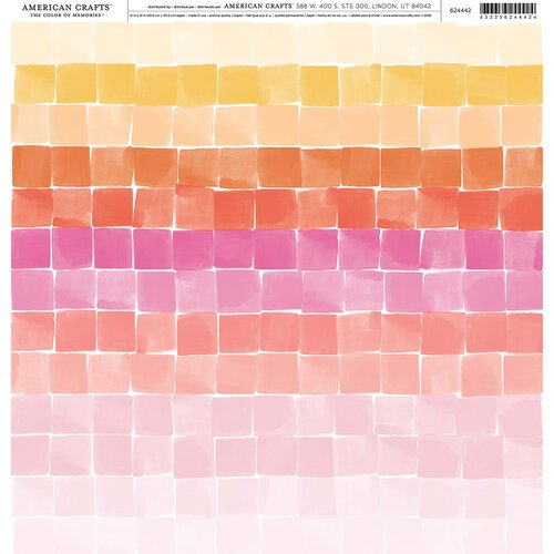American Crafts - 12 x 12 Single Sided Paper - Warm Checkerboard
