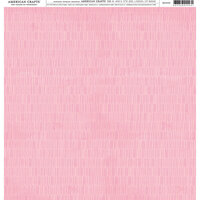 American Crafts - 12 x 12 Single Sided Paper - Pink Lines