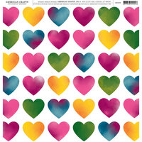 American Crafts - 12 x 12 Single Sided Paper - Heart