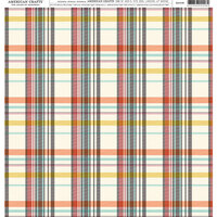 American Crafts - 12 x 12 Single Sided Paper - Plaid Pattern