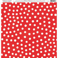 American Crafts - 12 x 12 Single Sided Paper - Red and White Dots