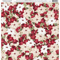 American Crafts - 12 x 12 Single Sided Paper - Poinsettia