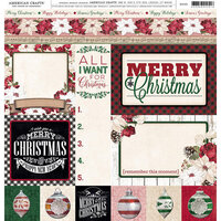 American Crafts - 12 x 12 Single Sided Paper - Christmas Tags
