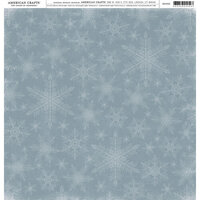 American Crafts - 12 x 12 Single Sided Paper - Snowflakes