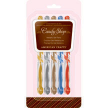 American Crafts - Candy Shop Gel Pens - 5 Pack - Metallic