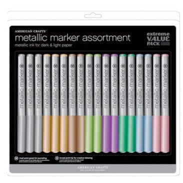 American Crafts - Metallic Markers Value Pack - 18 Piece