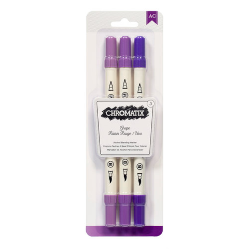 American Crafts - Chromatix - Blending Markers - Grape - 3 Pack