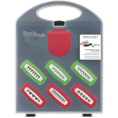 American Crafts - Knock Outs - Border Punch System Value Kit - Christmas